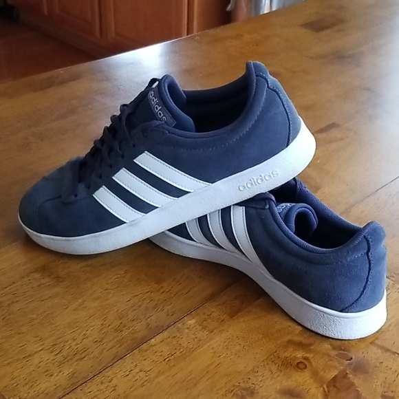 Adidas Vl Court 2 Navy Suede Sneakers